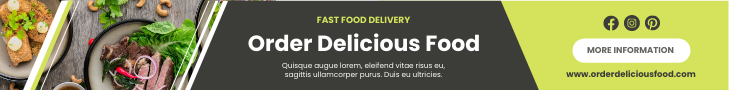 Banner Ad template: Fast Food Delivery Banner Ad (Created by InfoART's Banner Ad maker)
