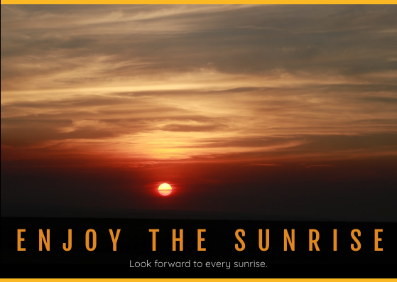 Post Card template: Sunrise Post Card (Created by InfoART's Post Card marker)