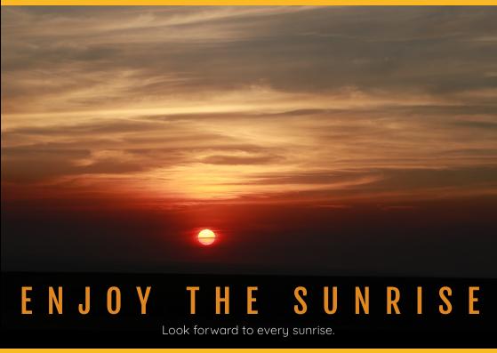 Postcard template: Sunrise Postcard (Created by InfoART's Postcard maker)