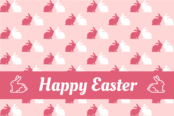 Greeting Card template: Rabbit Pattern Easter Greeting Card (Created by InfoART's Greeting Card maker)
