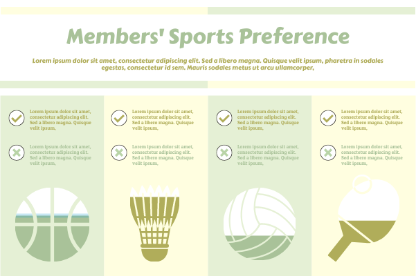 Sport template: Members' Sport Preference (Created by InfoChart's Sport maker)