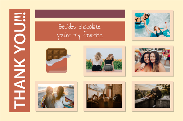 Greeting Card template: Best Friends Greeting Card (Created by Collage's Greeting Card maker)
