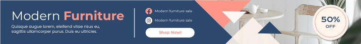 Banner Ad template: Modern Furniture Shopping Sale Banner Ad (Created by InfoART's Banner Ad maker)