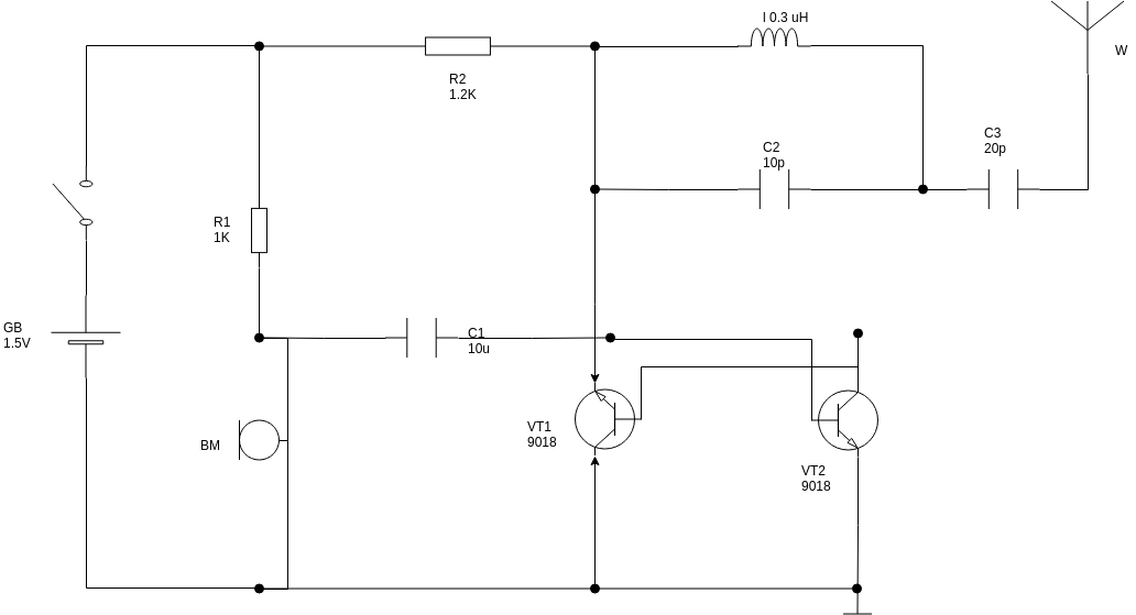 FM Wireless Microphone (Circuit Diagram Example)