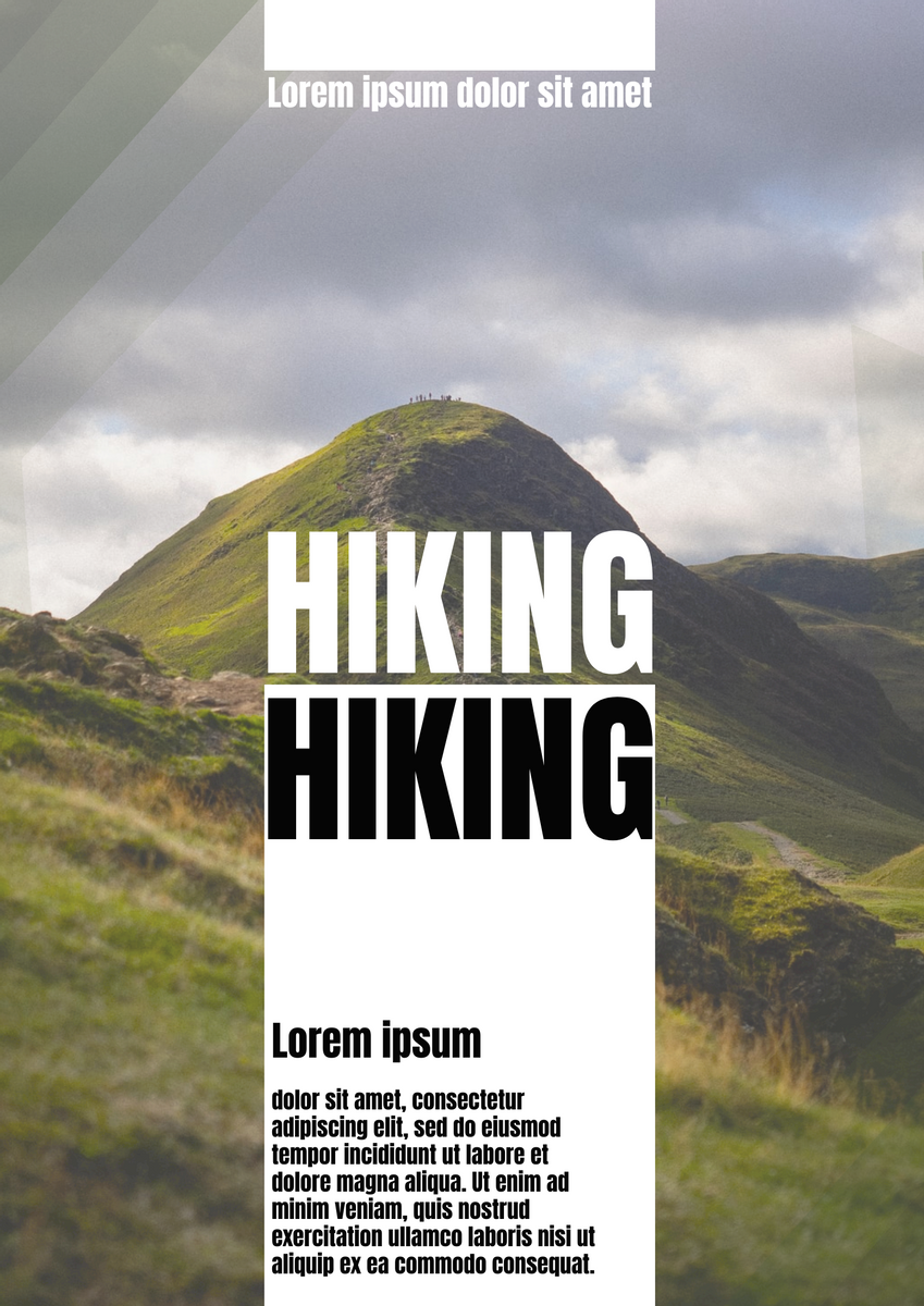 Poster template: Hiking poaster (Created by InfoART's Poster marker)