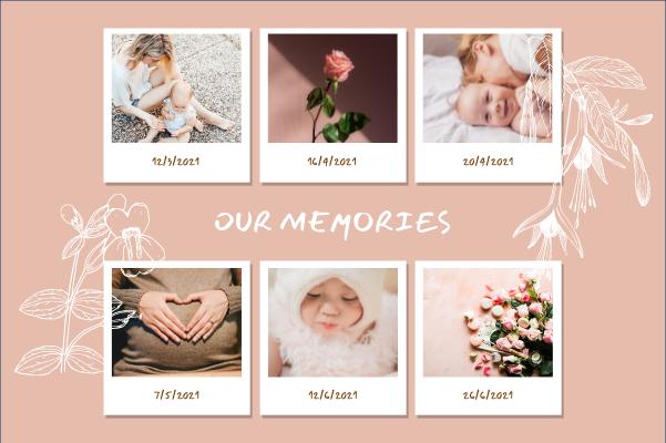Greeting Card template: Baby Love Memories Greeting Card (Created by Collage's Greeting Card maker)