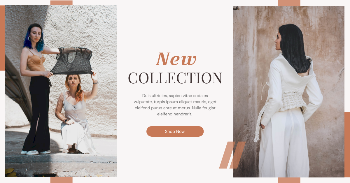 Facebook Ad template: Woman Fashion New Collection Facebook Ad (Created by InfoART's Facebook Ad maker)