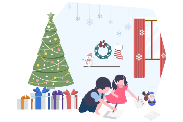 illustrations.templates.festival.type-name template: Letter To Santa Illustration (Created by Scenarios's illustrations.templates.festival.type-name maker)