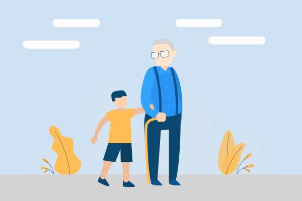 Relationship Illustration template: Grandfather Illustration (Created by Scenarios's Relationship Illustration maker)