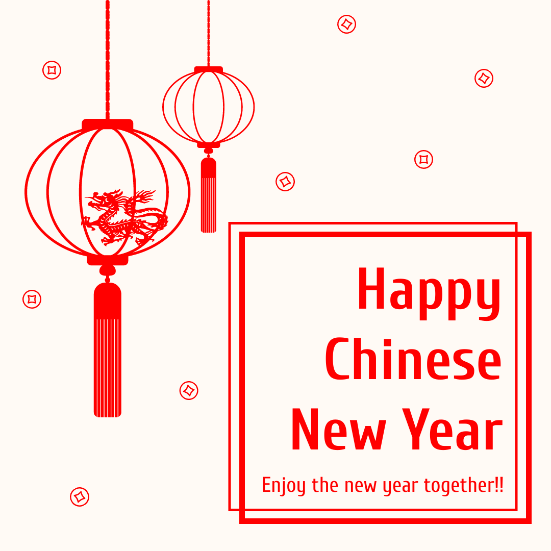 Instagram Post template: Simple Red Chinese New Year Instagram Post (Created by InfoART's Instagram Post maker)