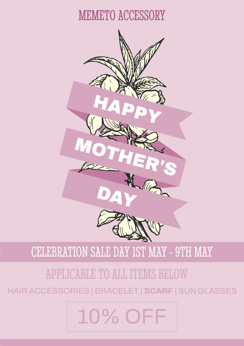 Flyer template: Pink Ribbon Mother's Day Sales Flyer (Created by InfoART's Flyer maker)