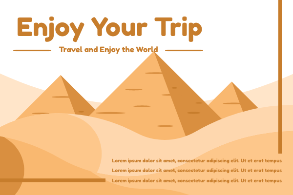 Greeting Card template: Enjoy Your Trip Greeting Card (Created by InfoART's Greeting Card marker)