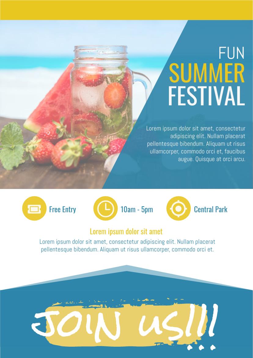 Flyer template: Summer Festival (Created by InfoART's Flyer maker)