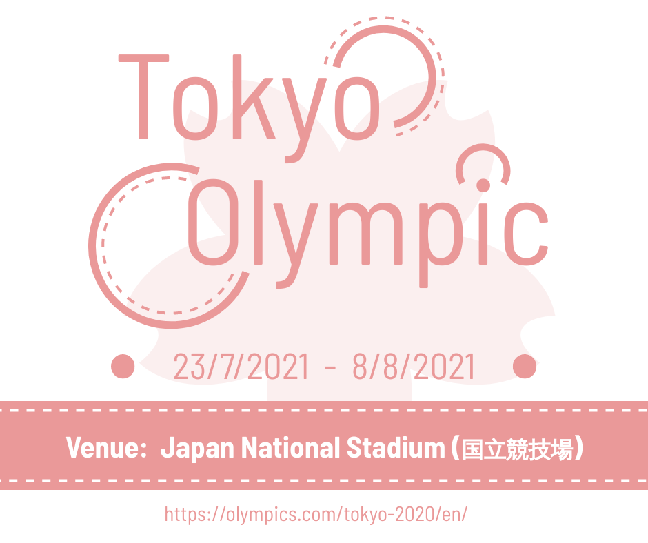 Facebook Post template: Tokyo Olympic Ceremony Facebook Post (Created by InfoART's Facebook Post maker)