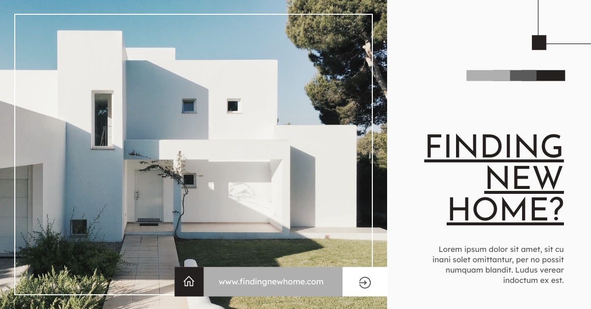 Facebook Ad template: Finding New Home Estate Agent Facebook Ad (Created by InfoART's Facebook Ad maker)