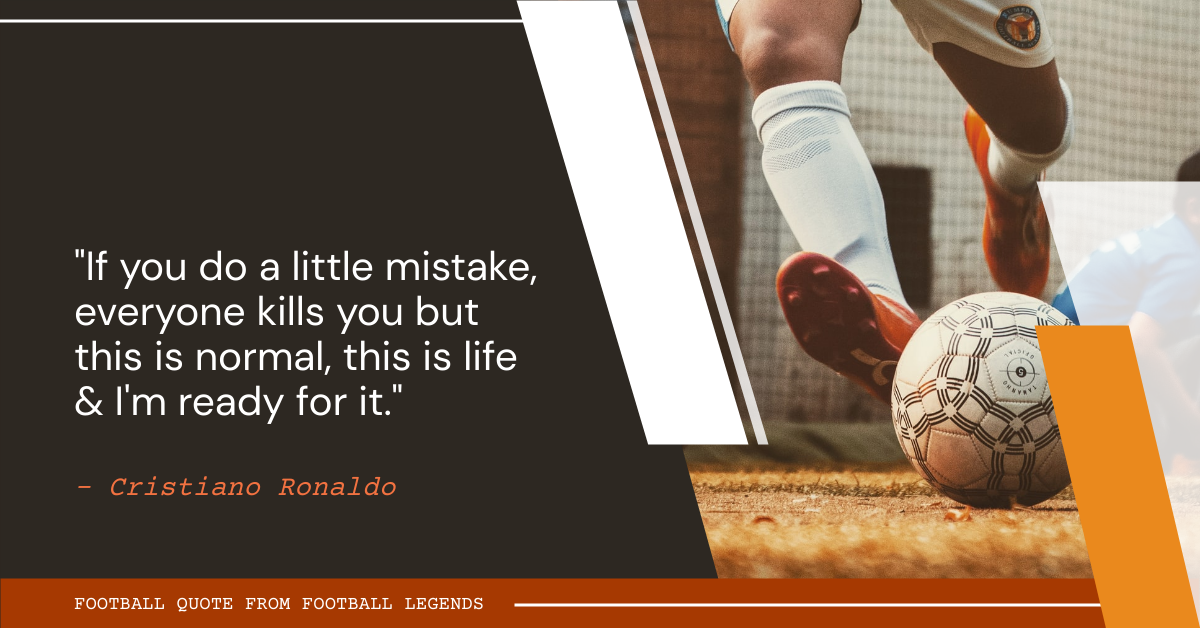 Facebook Ad template: Football Quote From Football Legends Facebook Ad (Created by InfoART's Facebook Ad maker)