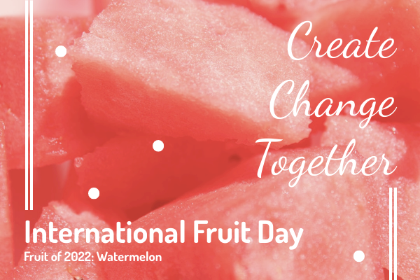 Greeting Card template: Watermelon International Fruit Day Greeting Card (Created by InfoART's Greeting Card maker)
