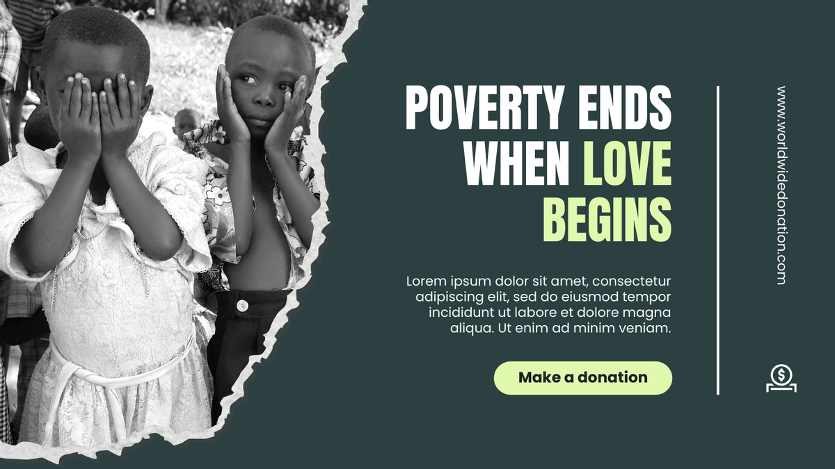 Twitter Post template: Poverty Crisis Donation Twitter Post (Created by InfoART's Twitter Post maker)