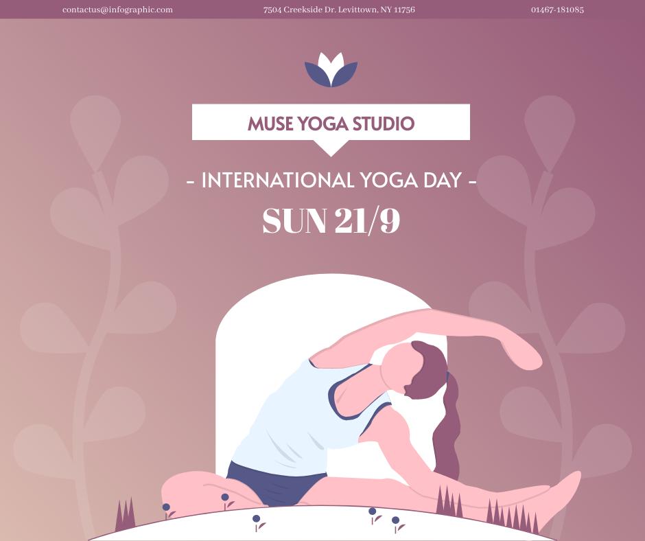 Facebook Post template: International Yoga Day Discount Facebook Post (Created by InfoART's Facebook Post maker)