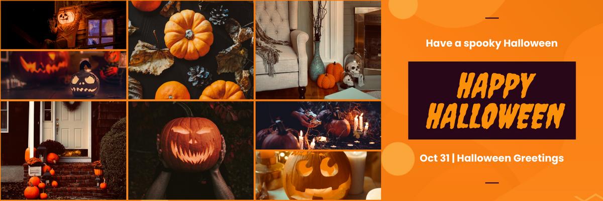 Twitter Header template: Halloween Greetings Twitter Header (Created by InfoART's Twitter Header maker)