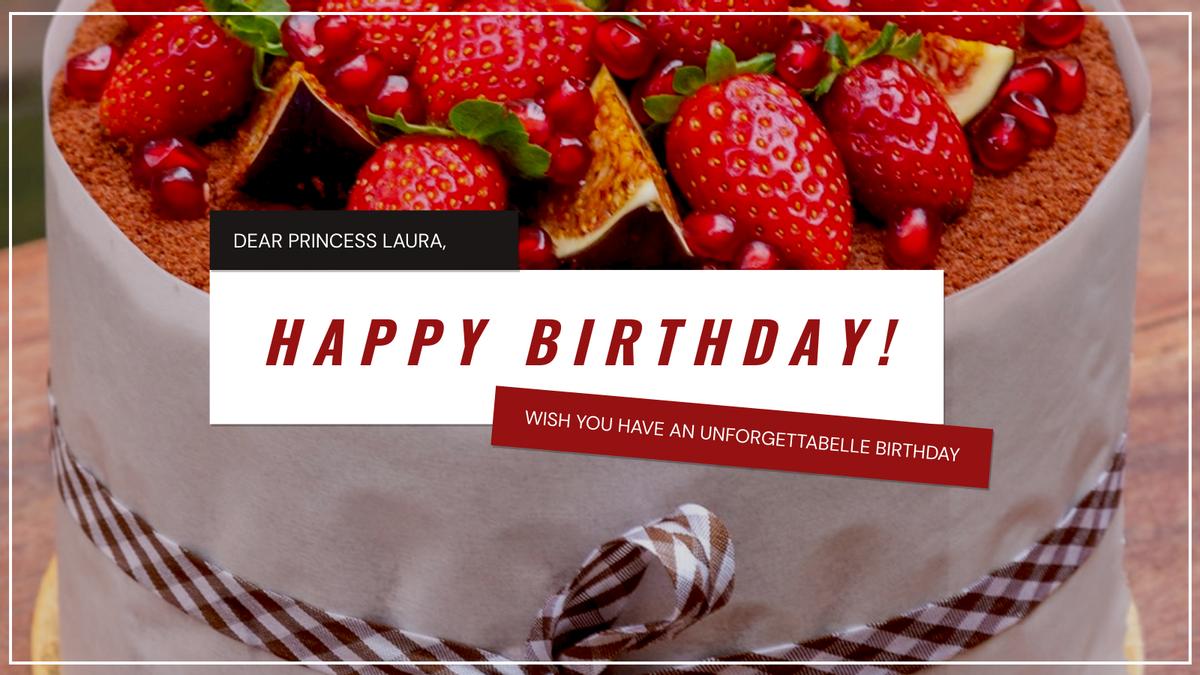 Twitter Post template: Red Cake Photo Happy Birthday Celebrants Twitter Post (Created by InfoART's Twitter Post maker)
