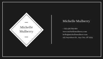 Business Card template: Black And White Ink Photo Business Card (Created by InfoART's Business Card maker)