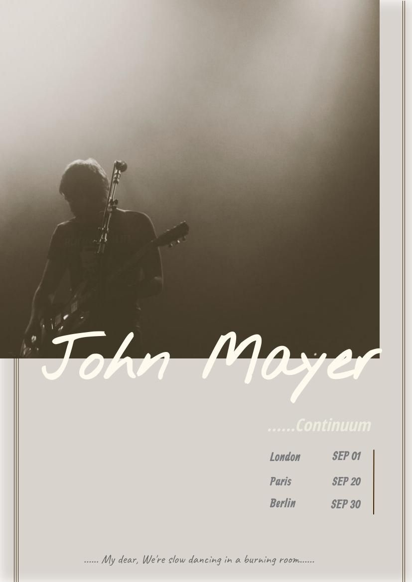Flyer template: Concert Tour Flyer (Created by InfoART's Flyer maker)