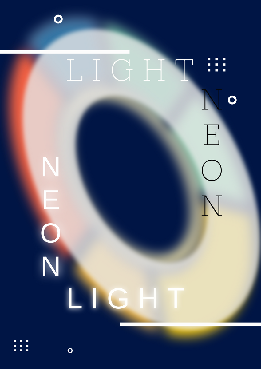Poster template: Neon Light Poster (Created by InfoART's Poster maker)