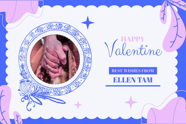 Greeting Card template: Special Valentine Greeting Card (Created by InfoART's Greeting Card maker)