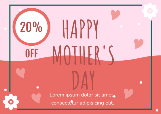 Gift Card template: Mother's Day Gift Card (Created by InfoART's Gift Card marker)