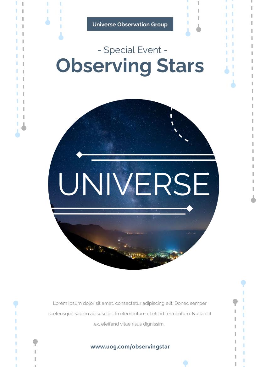 Flyer template: Observing Star Event Flyer (Created by InfoART's Flyer maker)