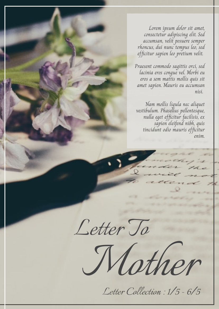 Flyer template: Vintage Mother's Day Event Flyer With Details (Created by InfoART's Flyer maker)