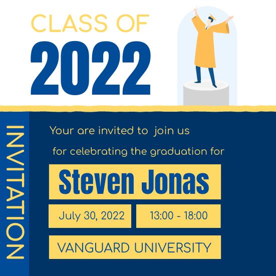 Invitation template: Blue And Yellow Illustrative Invitation (Created by InfoART's Invitation maker)