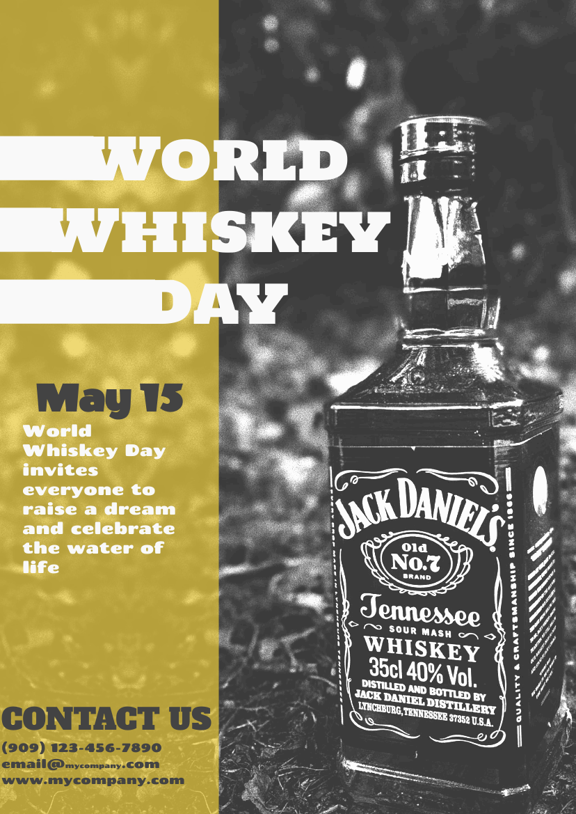 Flyer template: Photographic World Whiskey Day Flyer (Created by InfoART's Flyer maker)