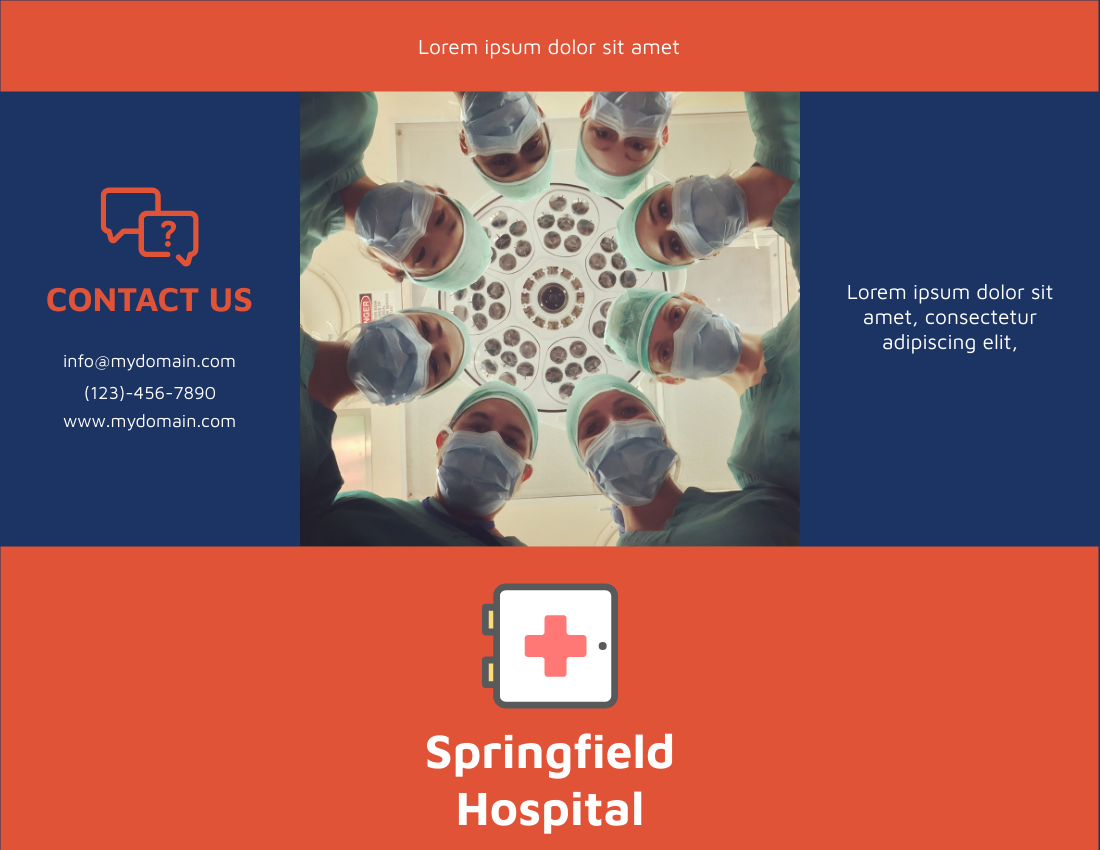 Brochure template: Hospital Brochure (Created by InfoART's Brochure maker)