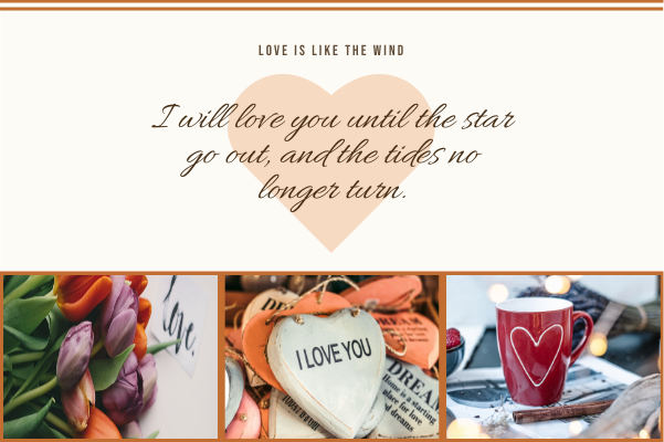 Greeting Card template: Love Is Like The Wind Greeting Card (Created by Collage's Greeting Card maker)