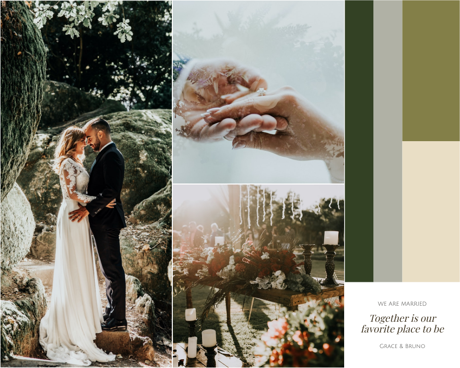 Mood Board template: We Are Married Mood Board (Created by Collage's Mood Board maker)