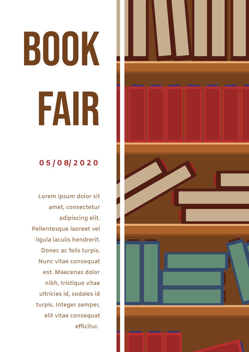 Flyer template: Book Fair Flyer (Created by InfoART's Flyer maker)
