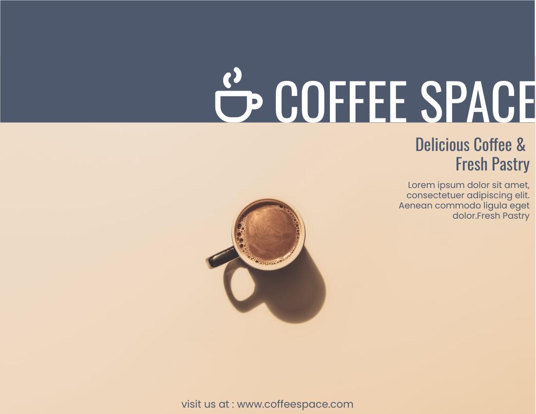 Brochure template: Coffee Space (Created by InfoART's Brochure marker)