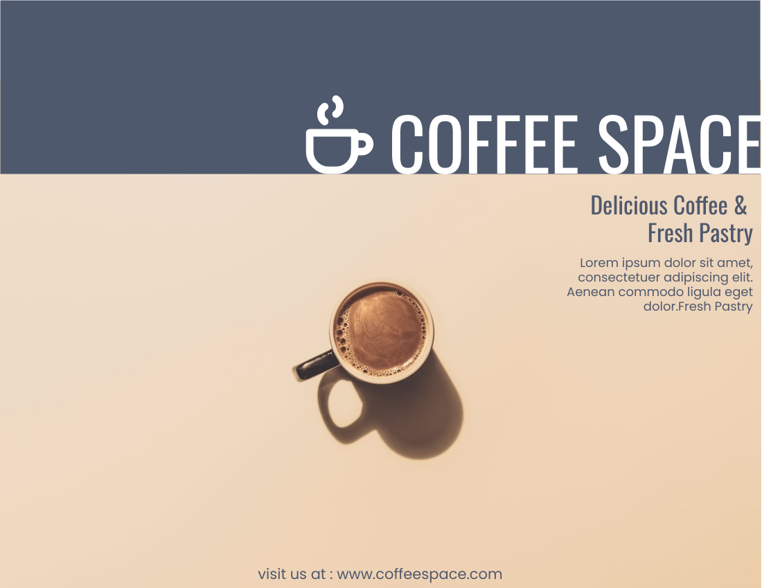 Brochure template: Coffee Store Brochure (Created by InfoART's Brochure maker)