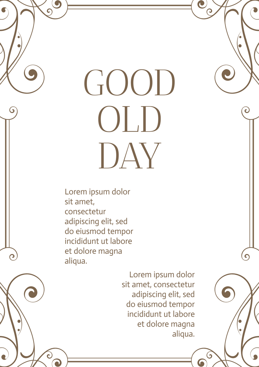 Poster template: Good Old Days Poster (Created by InfoART's Poster maker)