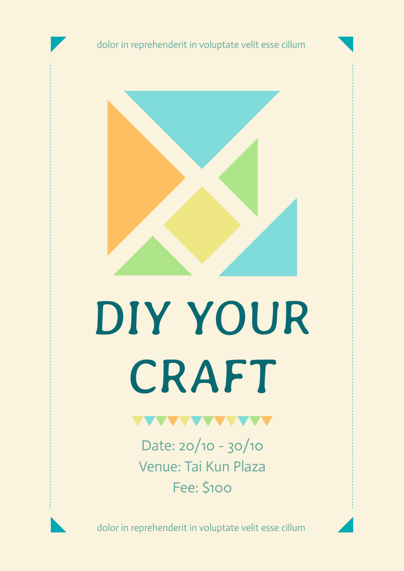 Flyer template: DIY Your Craft (Created by InfoART's Flyer maker)