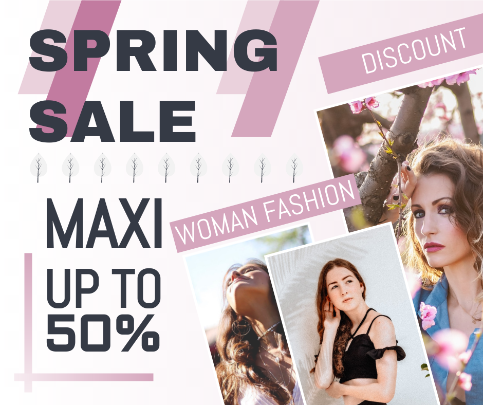 Facebook Post template: Female Spring Fashion Facebook Post (Created by InfoART's Facebook Post maker)