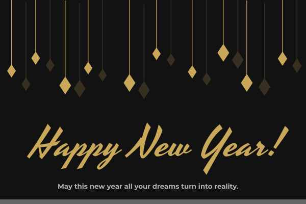 Greeting Card template: New Year Wishes Card (Created by InfoART's Greeting Card maker)