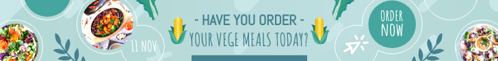 Banner Ad template: Vegan Day Online Order Banner Ad (Created by InfoART's Banner Ad maker)