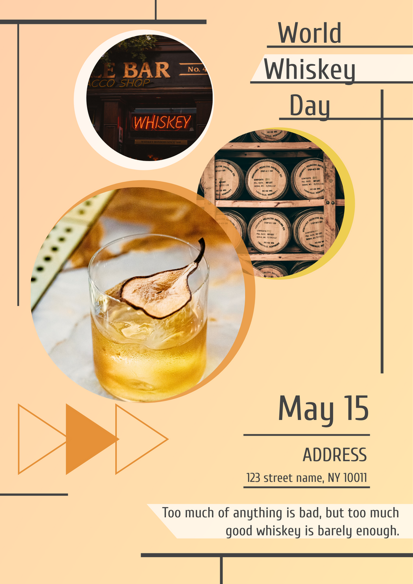 Poster template: World Whiskey Day Poster (Created by InfoART's Poster maker)