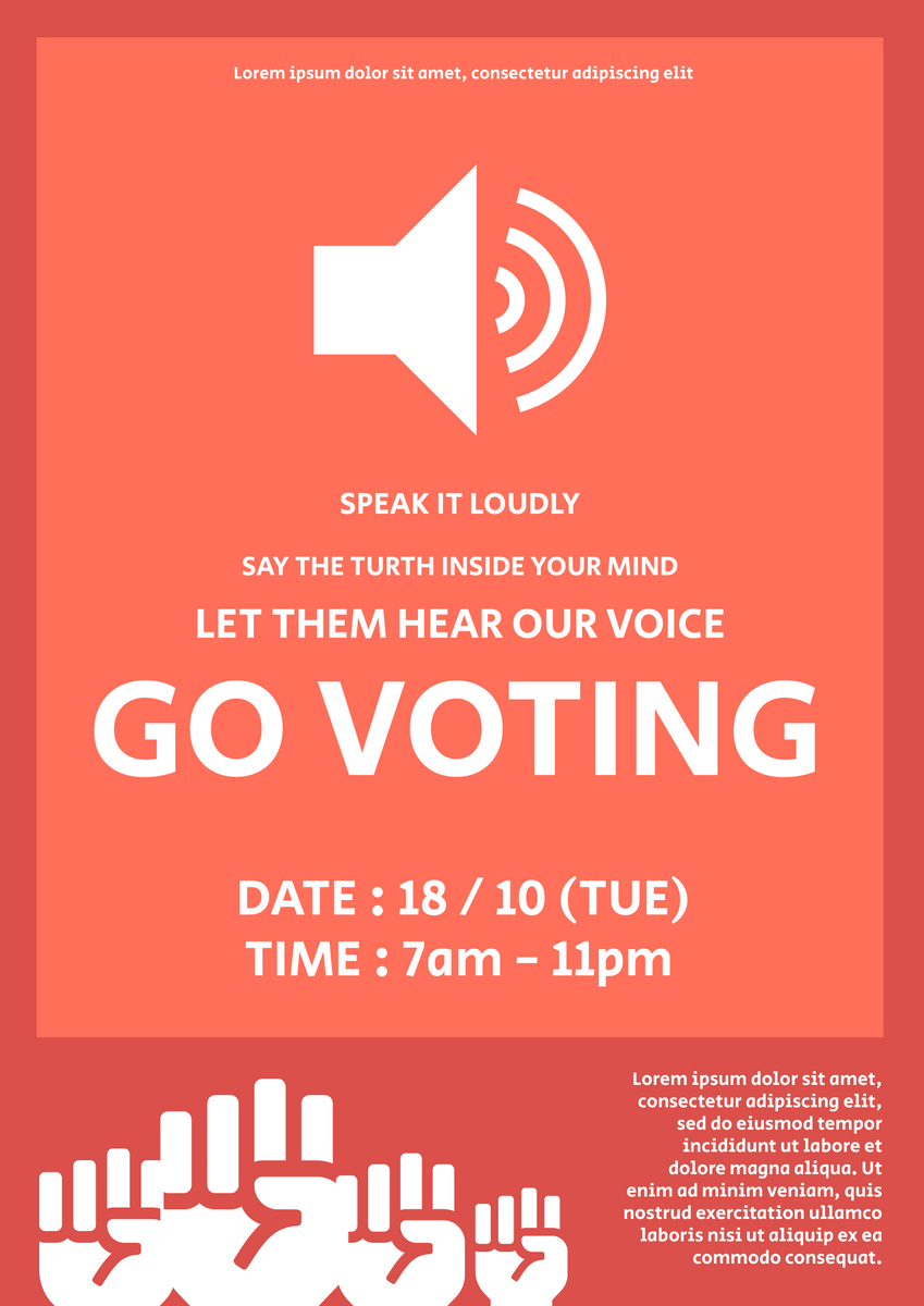 Poster template: Voting Poster (Created by InfoART's Poster maker)
