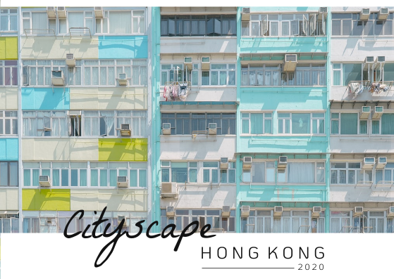Post Card template: Cityscape Hong Kong Post Card (Created by InfoART's Post Card marker)
