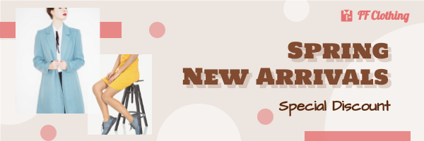 Email Header template: Spring New Arrivals Email Header (Created by InfoART's Email Header maker)