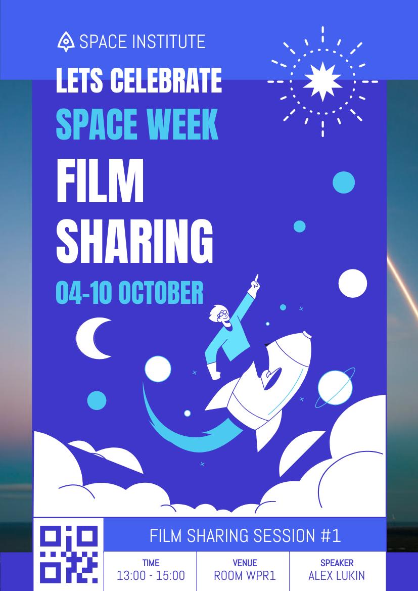 Flyer template: Space Week Film Sharing Flyer (Created by InfoART's Flyer maker)
